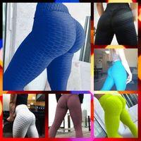frauen sexy yoga hosengamaschen groihandel-Frauen Fitness Sexy Anzugshose Hight Taille Sportswear Yoga Pants Gym Laufhose Lauf Gym elastische Hosen dünne Hose S-XL