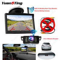 Wholesale wireless backup camera monitor kit resale online - YuanTing Universal Built in Wireless Car Parking LCD Monitor Reversing Backup Camera Rear View Kit