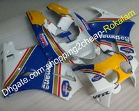 moto v4 al por mayor-Moto Aftermarket Kit Carenado para Honda VFR400RR NC30 1988 1989 1990 1991 1992 VFR400 RR NC 30 V4 VFR400R Rothmans Motorcycle Fairing Set