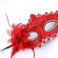 красивые маски для лица оптовых-Горячая Сексуальная Леди Маскарад Партии Роза Цветок Маска Для Лица Красивая Принцесса Цветы