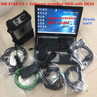 Wholesale automotive scanners resale online - Allready MB Star C5 SD Connect C5 car diagnostic scanner mb star C5 D630 Laptop with G HDD V soft ware vediamo X D HHT
