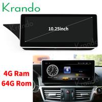 mp4 плеер для android оптовых-Krando Android 8.1 10.25 'автомобильный радиоприемник для DVD-навигации для Benz E Class W212 S212 2009-2016 мультимедийный плеер GPS BT автомобильный DVD