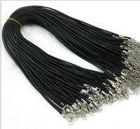 Wholesale black wire choker for sale - Group buy Leather Necklace Snake Beading Cord String Rope Wire Jewelry Cheap Chain With Lobster Clasp Components black locket choker necklaces