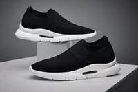 nefes alabilen dokuma ayakkabılar toptan satış-Yeni Lüks uçan dokuma spor moda erkek ayakkabı nefes örgü rahat ayakkabılar Tasarımcı koşu Sneaker En Kaliteli Erkek Yürüyüş ayakkabı