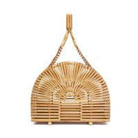 bolsos hechos a mano moda de verano al por mayor-Womens Handmade Bamboo Weaving Bag Casual Bohemian Beach Totes Moda de Verano Señora Bead Bolsos de Marca Nuevo