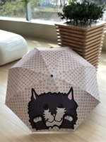 gatos guarda-chuva venda por atacado-L Letra Imprimir Gato Guarda-chuva Popular Logo Flor Cheia Bumbershoot Animal Bonito Impresso Guarda-chuvas Para Trendsetter