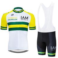 radsportbekleidung iam großhandel-IAM Pro Team Kurzarm Radtrikot 2019 Mountainbike Bekleidung Mtb Maillot Trägerhose Sets Fahrradbekleidung Kit Wear