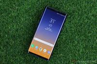 cep telefonu android notları toptan satış-Parmak izi ile Goophone note9 Not 8 akıllı telefonlar 6.2 inç Android 8.0 sim kart gösterilen 6G + 128G ROM 4G LTE cep telefonları