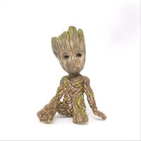 Wholesale toy people resale online - Guardians of the Galaxy hand ornaments Gruitt sitting tree people baby hand office model box Groot