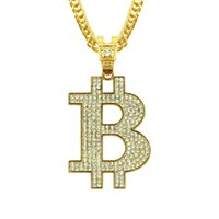 Wholesale best mens gold chains resale online - Best Quality Letter B Designer Necklace Exquisite Hip Hop Mens Necklace Fashion Street Dance Iced Out Pendant Crystal Luxury Jewelry