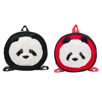 Wholesale small baby girl backpack for sale - Group buy Cute Panda Baby Round Backpack Plush Cartoon Girls Kids Small Shoulder Bags