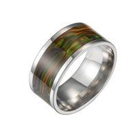 кольца для ушей для женщин оптовых-316L Титановая Сталь Abalone Shell кольцо роскошные дизайнерские ювелирные изделия женские кольца мужские ювелирные изделия кольца Мужская Обручальное кольцо обручальные кольца