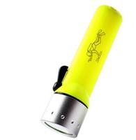 мини-дайвинг водонепроницаемый фонарик оптовых-Водонепроницаемый фонарик XM-L XML Q5 1800LM LED Дайвинг Подводные фонари Подводный фонарь Фонарик мини-велосипедная рыбалка кемпинг факелы