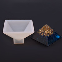 Wholesale pyramid jewelry resale online - New Pyramid Cylinder Quadrihedron Shape Silicone Molds Epoxy Resin Silicone Moulds DIY Pendant Jewelry Making Craft Moulds Home Decoration