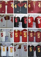 Wholesale college custom jerseys for sale - Group buy Custom NCAA Florida State Seminoles College Football Dalvin Cook Jameis Winston Deondre Francois white red black