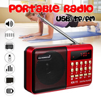 Wholesale Mini Portable Radio Handheld Digital Fm Usb Tf Mp3 Player Speaker Rechargeable