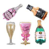 ingrosso partito di palloncini in alluminio-Pallone di birra della tazza di Champagne Palloncini Palloncino di stagnola di alluminio Palloncini di elio Compleanno di nozze Baby Shower Decorazioni per feste