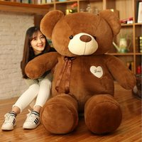 grande urso de peluche meninas venda por atacado-Hot Oversized Plush Toy Teddy Bear Boneca 140 cm Com uma gravata borboleta Big Teddy Bear menina propor presente de aniversário de presente de Natal