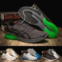 Wholesale best flat boots shoe for sale - Best Asics Gel KENUN T7C4N Designer Running Shoes Black Green Original Men Women Athletics Sneakers Sport Shoes Boots