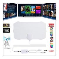 kapalı antenler toptan satış-Kapalı TV Anten 200 Mil Aralığı Anten TV Dijital HD Skywire 4 K Dijital Kapalı HDTV 1080 P TV Antenler için Televizyon parçaları