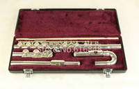 Wholesale nickel flute resale online - Jupiter JFL E C Tune Flute Keys Holes Closed Flute Silver Plated Flauta With Case And Small Curved Heads Brand Musical Instrument