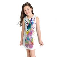 niedliche teen kleider großhandel-Teen Kleinkind Kind Mädchen Sommer Sleeveless 3D Print Cartoon Kleider Freizeitkleidung süßes Kleid für Mädchen 3 Jahre drucken