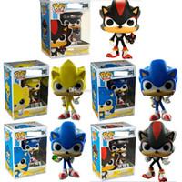 brinquedos de sônica sonora venda por atacado-FUNKO POP Sonic Boom Amy Rose Varas Caudas Werehog Figuras de Ação PVC Knuckles Dr. Eggman Anime Pop Figurinhas Bonecas Crianças Brinquedos para crianças