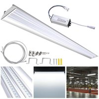Wholesale modern led track lighting for sale - Group buy Us Stock Led Shop Light Daylight k w Fixture Led Cord Hanging Linear Light Aluminum Channel System Ultra Thin Track Lighting