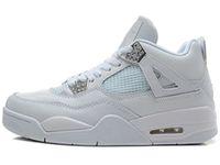 basketbol ayakkabıları yeşil renkte toptan satış-nike air jordan aj4 Yüksek Kalite 4 Yeni Uçuş Nostalji Silt Kırmızı Basketbol Ayakkabı Erkekler için 4 s Bred Beyaz Çimento Saf Para Yeşil Glow Thunder Spor Sneakers
