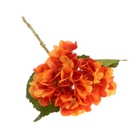 plantas flores de laranja venda por atacado-Plantas Hortênsia Flores Artificial De Seda Vegetal Decoração Do Casamento Do Partido Do Jardim De Laranja