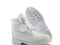 zapatos de vestir de caoba al por mayor-Botas de senderismo oficiales de madera para hombre Zapatos de cuero genuino Martin Wheat White Outdoor impermeable con caja original Envío gratis