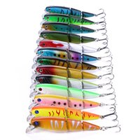 Wholesale trout fishing lures for sale - HENGJIA colors Multi Jointed Minnow Fishing Lure Hard Bass Bait Swimbait For Bass Trout cm g