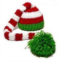 Wholesale long tail baby crochet hat for sale - Group buy New Unisex Children Beanies Long Tail Knit Christmas Hats Baby Kids Winter Warm Cap Long Tail Ball Caps Photography Props Hats