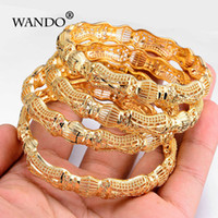 Wholesale fancy gold sets resale online - Wando Newest Gold Colour Ethnic Bracelet Middle Eastern Indian Wedding Women Bangle Can Open Fancy Pattern Jewelry B11 MX190719