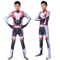 traje zentai maravilha venda por atacado-Marvel Endgame Quantum Realm Avançada Tecnologia Trajes Cosplay 2019 Novo Homem De Ferro Macacão Bodysuit Terno Zentai