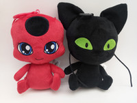 Wholesale cat games for kids for sale - Miraculous Ladybug The New Inch Carton Plush Doll Ladybug Black Cat Plush Doll Toy Stuffed Animals Gifts For Kids