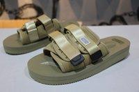 sohle pu sandale großhandel-Neu eingetroffen Top-Qualität Rot CLOT X SUICOKE OG-056STU MOTO-STU Sommerreise Fest Schwarze Seidensohle Sandale Rutschen SUICOKE KISEEOK-044V 5dsa