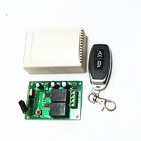 Wholesale learning code wireless remote control resale online - 433Mhz wireless RF switch DC12V relay receiver and learning code remote control for DC motor forward and reverse remote con