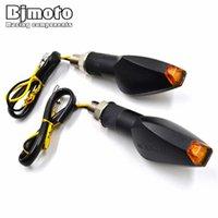 ingrosso honda facile-Coppia Universale Super Bright 14 LED Indicatori indicatori di direzione a LED Amber Lampeggiatore facile da installare SL-069S
