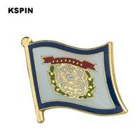 U.S.A West Virginia Flag Lapel Pin Flag Badge Lapel Pins Badges Brooch XY0231