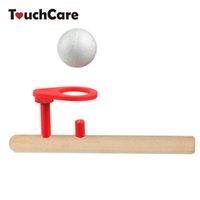 ingrosso giocattolo palla palla-puzzle giocattolo Bambino in legno Puzzle Giocattoli Bambini che soffia palla Balance Training Blow Ball Rod Bambini Ragazzi ragazze che imparano giocattolo educativo