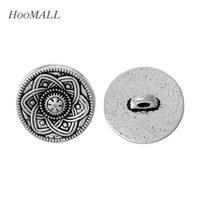 15mm metall blume großhandel-Knopf Jersey Hoomall Marke 30PCs hohle Blume dekorative Metallknöpfe 15mm silberner Ton gepaßtes Nähen Scrapbooking nähendes Zubehör