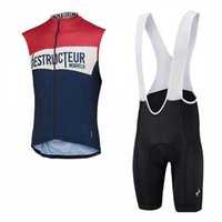 Wholesale cycle jerseys sale resale online - 2019 Summer Breathable Men Cycling Sleeveless jersey bib shorts sets Quick Dry Clothing Cycle Sportswear Hot Sale K040302