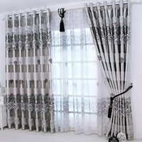 1pc 2019 New Curtains for Windows Drapes European Modern Elegant Noble  Printing Shade Curtain For Living Room Bedroom Home Decoration