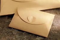 schnallen für einladungen großhandel-Hot Office School Schmetterling Schnalle Kraftpapier Umschläge Liebe Retro Schnalle Umschlag Papier Einladung Umschlag Urlaub