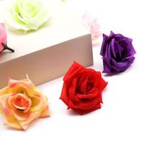 rosa de seda aberta venda por atacado-50pcs 8 centímetros grandes 50 Chefes Abrir Rose Silk Artificial Flower Falso Para DIY Wedding partido Home decoração Home