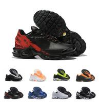 Wholesale hot se resale online - 2020 Hot Men Mercurial Plus Tn SE Ultra Running Shoes Tns Triple Black White Orange Yellow Mens Schuhe Sports Athletic Sneakers Size