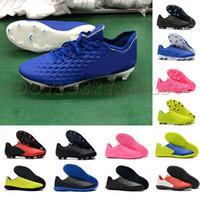 calçados homens tamanho 6,5 venda por atacado-Tiempo Legend VIII FG Mens Botas De Futebol Hyper Azul Triplo Branco 8 chuteiras de Futebol Homem Treinamento Ao Ar Livre Sapatos De Futebol Tamanho 6.5-11 zapatos