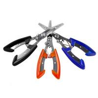 ligne d'outils de pêche achat en gros de-En plein air pêcheur en acier inoxydable pinces à pêche ciseaux ligne cutter enlever crochet outil de pêche 3 couleur ZZA280
