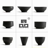 conjunto chinês do chá do fu do kung venda por atacado-TANGPIN preto louça cerâmica japonesa xícara de chá para puer xícaras de chá de porcelana chinesa kung fu conjuntos de chá